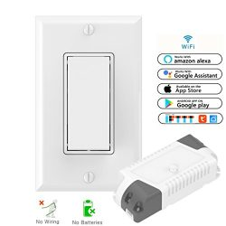 Smart WiFi Light Switch Kit: Self-Powered Wireless Switch No Battery No Wiring & Smart WiFi  ...