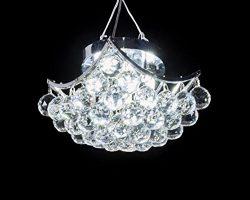 MonaLisa Gallery Crystal Ball Chandeliers Ceilling Flush Mount Pendant Light Fixture SML-4010-4  ...