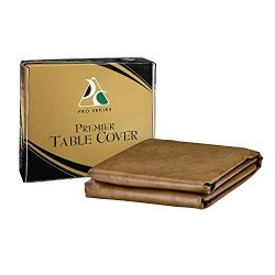 Pro Series TC8SD Premier Leatherette Pool Table Cover, Saddle, 8-Feet