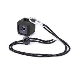 Minisuit Pendent Case for Polaroid Cube HD with Necklace Lanyard and Carabiner Clip – Black