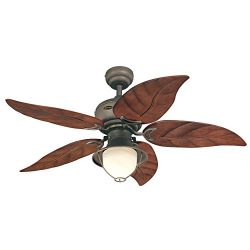 Westinghouse 7861920 Oasis Single-Light 48-Inch Five-Blade Indoor/Outdoor Ceiling Fan, Oil Rubbe ...