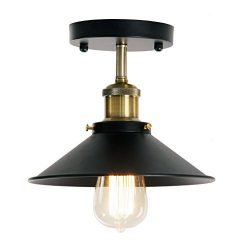 Wereal Ceiling Pendant Light, Mid-Century Vintage Style Lighting, Industrial Ceiling Fixture, Bl ...