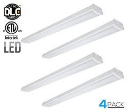LEONLITE 40W 4ft LED Wraparound Garage Shop Light Flush Mount Ceiling Light, 100W Equiv. Ultra B ...