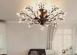 K9 Crystal Ceiling Lights Retro Crystal Lamp Vintage Light For Coffee Bar Restaurant Lighting lu ...
