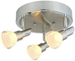 LED Adjustable Chrome Acrylic Spot light/ Track Lighting Ceiling light/Wall Sconce (3 Light)
