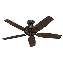 Hunter 53320 Newsome Ceiling Fan, 52″/Large, Premier Bronze,(Excludes lights)