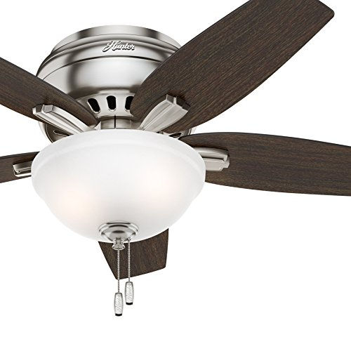 """Hunter Fan 42"""" Hugger Ceiling Fan In Brushed Nickel With"""