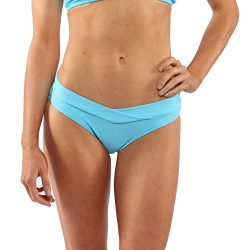 Island Love Island World Women's Separates Solid Pattern Design V-Fold Bikini Bottom Light ...