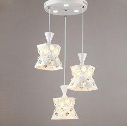 GL&G Iron Light Crystal Chandelier Pendent Light for Hallway,Bedroom,Kitchen,Kids Room,LED B ...