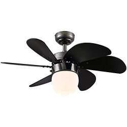 Westinghouse 7226100 Turbo Swirl CFL Single-Light 30-Inch Six-Blade Indoor Ceiling Fan, Gun Meta ...
