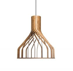 Wood pendant lighting for kitchen island – Dining room, living room hanging light fixture  ...