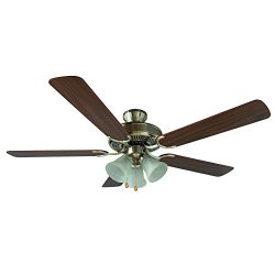 Yosemite Home Decor CALDER-SN-3 52-Inch Ceiling Fan with Light Kit and Walnut/Wengue Blades, Sat ...