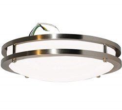 """Modern Flush Mount LED Ceiling Light by Sleeklighting (12"""" inch) 15Watt – 1050 Lumens, 300 ..."""