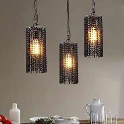 Rustic Pendant Light Industrial Pendent Lamp DIY Bicycle Chain Lampshade Bedroom / Shops LED Han ...