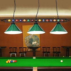 """59"""" Hanging Pool Table Light Fixture for Game Room Beer Party, Ball Design Metal Billiards ..."""