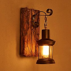 LightInTheBox Single Head Industrial Vintage Retro Wooden Metal Painting Color Wall lamp for the ...