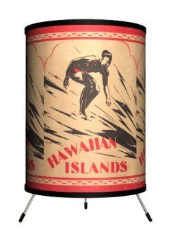 Lamp-In-A-Box TRI-SPO-SURHI Sports Surfing Hawaiian Islands Tripod Lamp, 8″ x 8″ x 1 ...