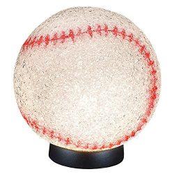 Rhode Island Novelty Elbassp 9″ Sparkle Baseball Lamp