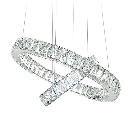 meerosee modern crystal chandelier lighting ceiling light fixture led contemporary adjustable