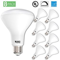 Sunco Lighting 8 PACK – BR30 LED 11WATT (65W Equivalent), 2700K Warm White, DIMMABLE, Indo ...