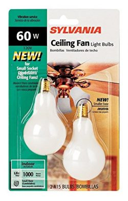 Sylvania 2-Pack 60 Watt Candelabra Ceiling Fan Light Bulbs