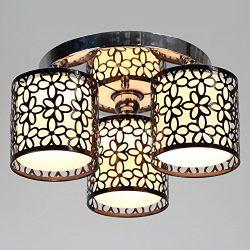 Lightinthebox Modern 3 Light Flush Mount Creative Painting Metal Ceiling Light Fixture Chandelie ...