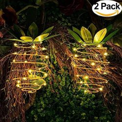 Free islands Garden Solar Lights, Outdoor Pineapple Light Hanging Decor Fairy Lights, Waterproof ...