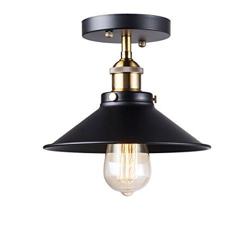 Yaqi Lighting Vintage Industrial Semi Flush Mount Ceiling
