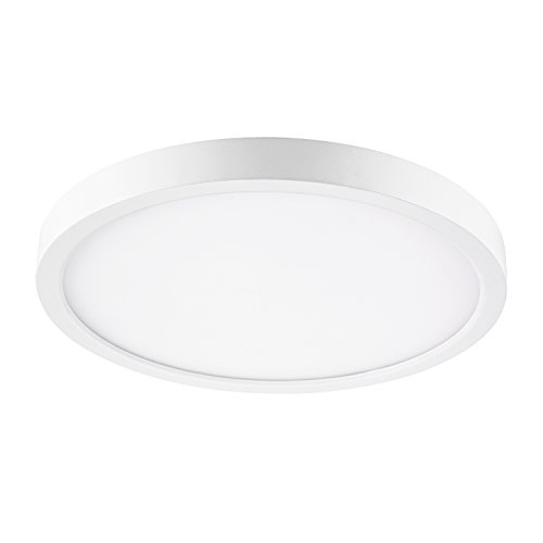 GetInLight Round 10-inch Dimmable Flush Mount Ceiling Fixture, (2nd Generation), 17 Watt, White  ...