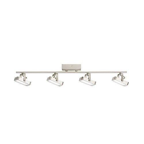 kichler lighting 4 light satin nickel dimmable led fixed track lighting kit ceilingme ceilingme. Black Bedroom Furniture Sets. Home Design Ideas