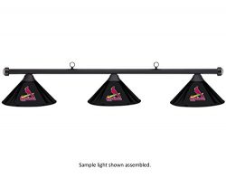 Imperial MLB St. Louis Cardinals Black Metal Shade & Black Bar Billiard Pool Table Light