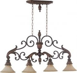 Quorum 6330-4-88 Madeleine 48.5″ 4-Light Island Pendant in Corsican Gold