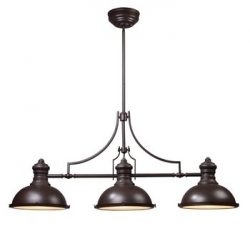 ELK Lighting 66135-3 Chadwick 3-Light Billiard Light, 21-Inch, Oiled Bronze