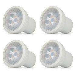 Small Mini GU10 LED Light Bulbs, 3W MR16 LED, 30W Halogen Bulbs Equivalent, 3000K Warm White, AC ...