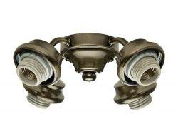 Casablanca 2.25 in. 4-Light Antique Brass Ceiling Fan Arm Fitter (Certified Refurbished)