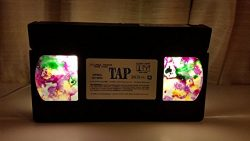 Upcycled TAP Movie VHS Tape LED Light Mood Lighting, Night Light, Bookshelf Light, Pendent Light
