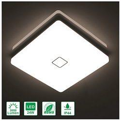 Airand 24W LED Flush Mount Ceiling Light 4000K 12.6 inch Square LED Ceiling Lamp with 240Pcs LED ...