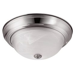 LB72127 LED Flush Mount Dome Ceiling fixture, Antique Brushed Nickel, 13-Inch, 4000K Cool White, ...