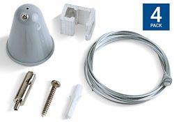 Hyperikon Track Light Suspension Kit, Pendant Lighting Accessories, 5ft Hanging Cable Gray, T-Ba ...