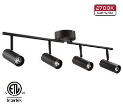 LEONLITE 28W LED Dimmable Track Light, ETL Listed 4-in-1 Ceiling Spot Lighting, 1800lm, Flexibly ...