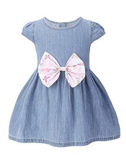 HeMa Island HMD Baby Girls Clothes Light Blue One-Piece Pinafore Overall Dress Denim Jeans Skirt ...
