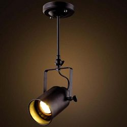 LED Track Spotlight Creative E27 Pendent House Ceiling Light Retro Vintage Industrial Ceiling Li ...