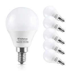 Kakanuo LED Light Bulbs Candelabra Base 60W Equivalent,E12 Base Warm White 2700K Candle Light,LE ...