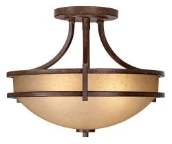 Oak Valley Collection 18″ Wide Scavo Glass Ceiling Light