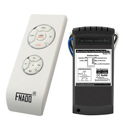 Fnado F4 Universal Ceiling Fan Lamp Remote Controller Kit & Timing Wireless Remote Control F ...