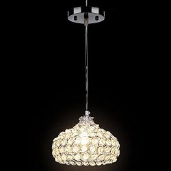 Deluxe Crystal Pendant Light Modern Chandeliers Wine Cup Shape Mini Style Ceiling Lighting for K ...