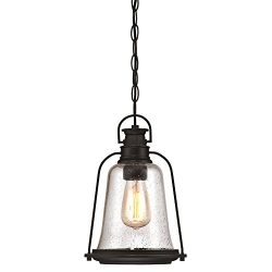Westinghouse 6339900 Brynn One-Light Outdoor Pendant, Oil Rubbed Bronze Finish with Highlights a ...