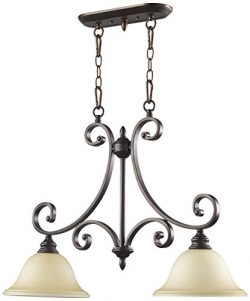 Quorum International 6554-2-86 Bryant 2 Light Island, Oiled Bronze