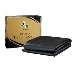Pro Series TC9BK Premier Leatherette Pool Table Cover, Black, 9-Feet
