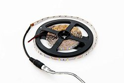 HitLights Warm White LED Light Strip, 3528-16.4 Feet, 300 LEDs, 3000K, 72 Lumens per Foot. 12V D ...